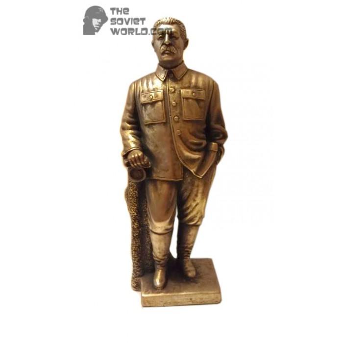High Russian Bronze statue Soviet bust of Stalin
