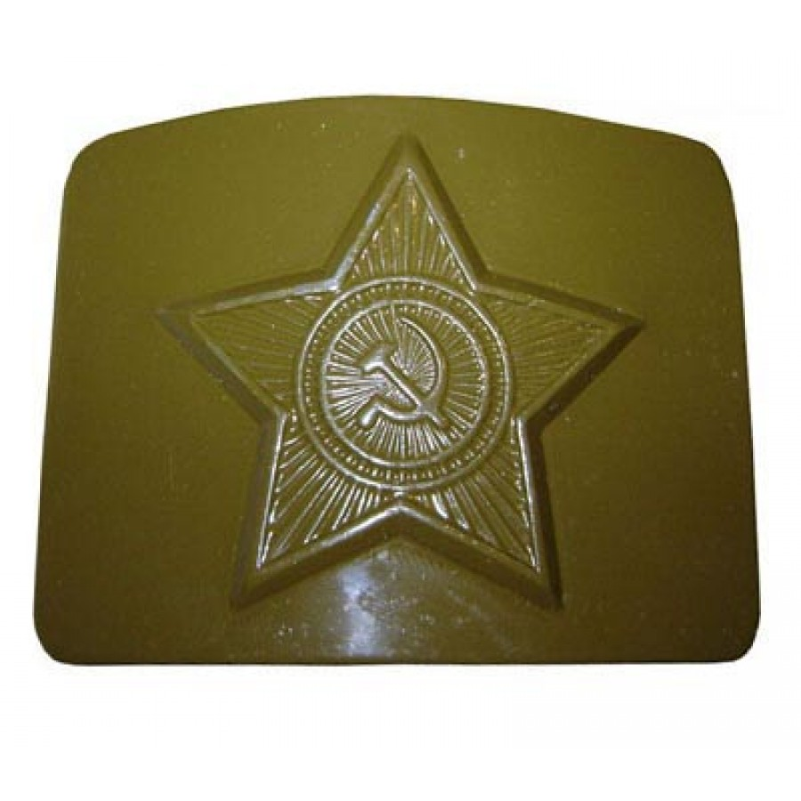 Soviet military buckle for belt (GREEN)