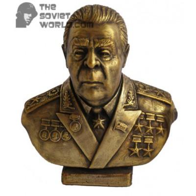 Russian bronze bust of Soviet communist Brezhnev