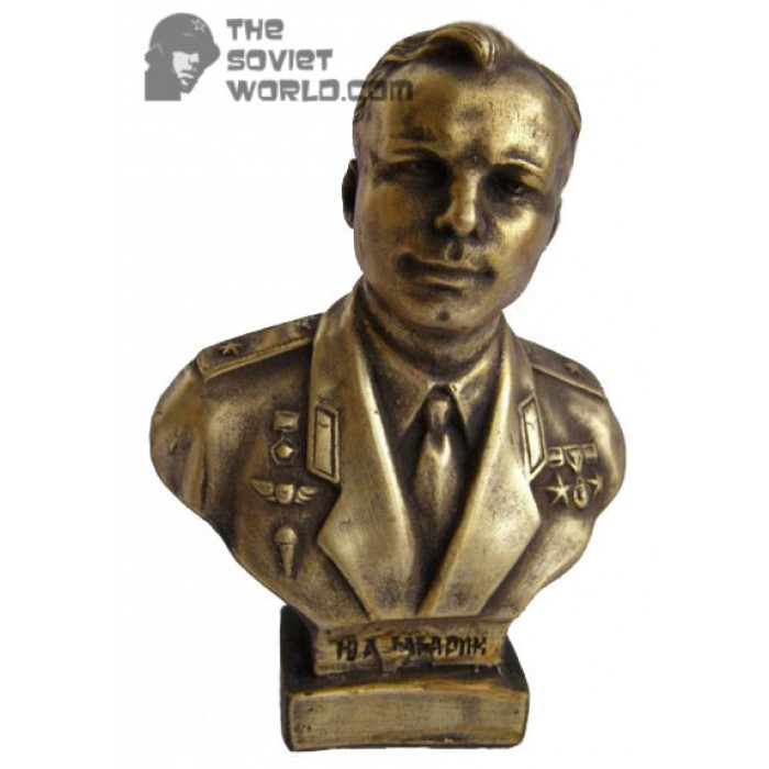 Russian Bronze bust of Soviet Space pilot GAGARIN
