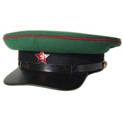 USSR russian NKVD Border Troops Green Officer's visor hat
