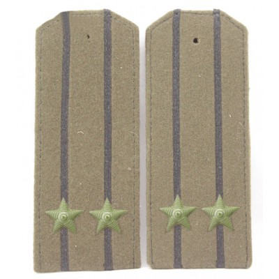 Soviet WWII / Red Army original shoulder boards high-ranking officer of Artilery & Tank forfe