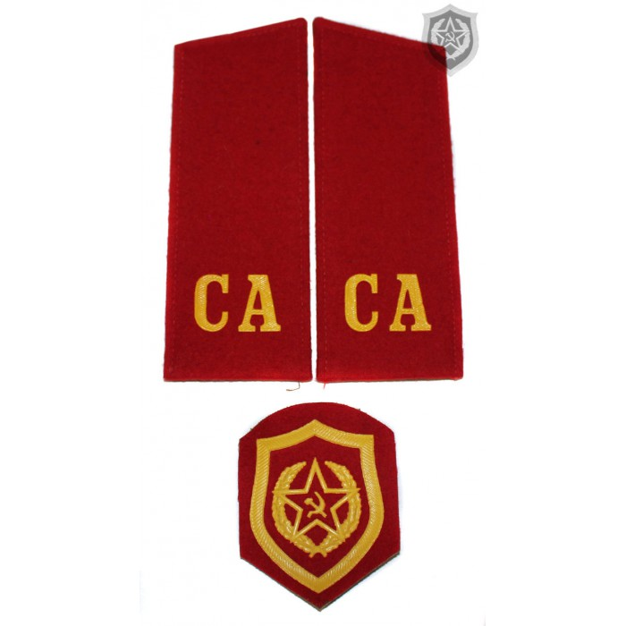 """Russian Military shoulder boards """"CA Soviet Army"""" with patch"""