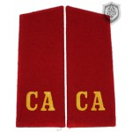 """Russian Military shoulder boards """"CA Soviet Army"""" RED"""