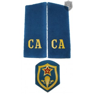 "Russian Military shoulder boards ""CA Soviet Army"" with patch VDV force"