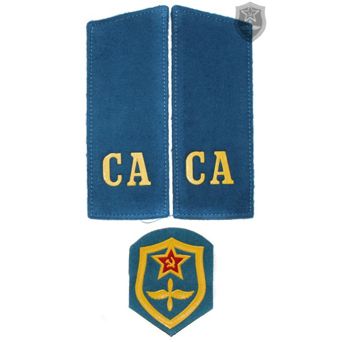 "Russian Military shoulder boards ""CA Soviet Army"" with patch AVIATION force"
