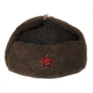 GENUINE Vintage WWII Soviet ushanka RKKA winter russian warm military hat