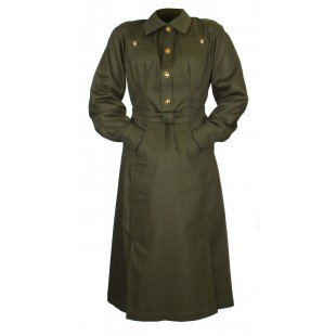 Soviet Army military uniform USSR WW2 female officer cotton Dress M41