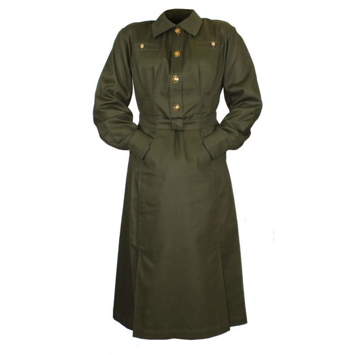 Soviet Army military uniform USSR WW2 female officer cotton Dress M41