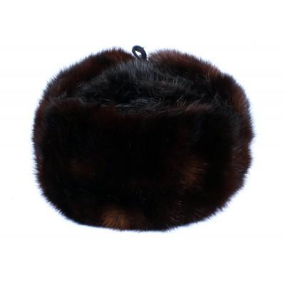 Russian / Soviet original vintage 1980s Nork fur winter hat Ushanka earflaps