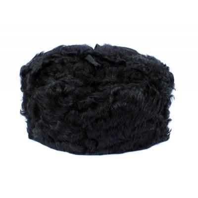 Russian / Soviet original vintage 1980s Goat fur winter hat Ushanka earflaps