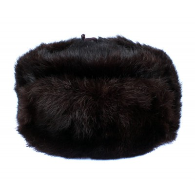 Russian / Soviet original vintage 1980s Rabbit fur winter hat Ushanka earflaps