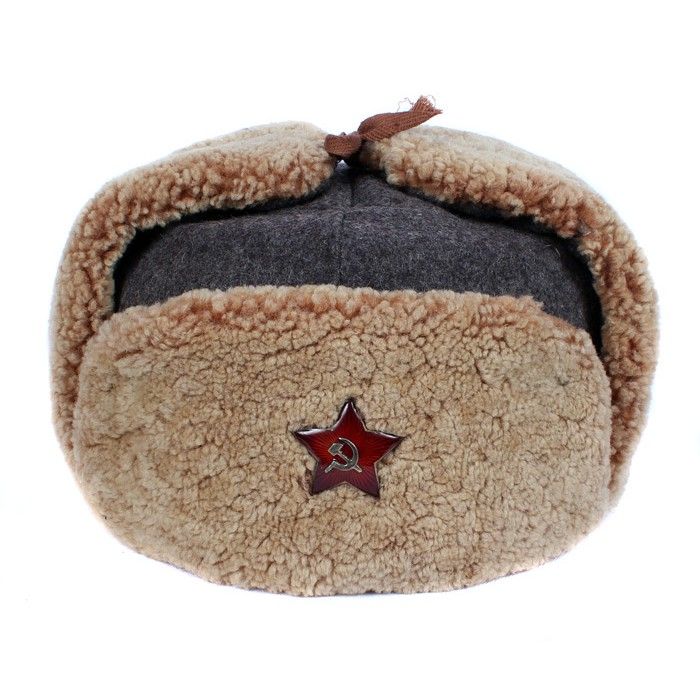 7846be4935a9b Vintage Soviet BOMBER WWII Ushanka Army Soviet military original warm winter  trapper hat