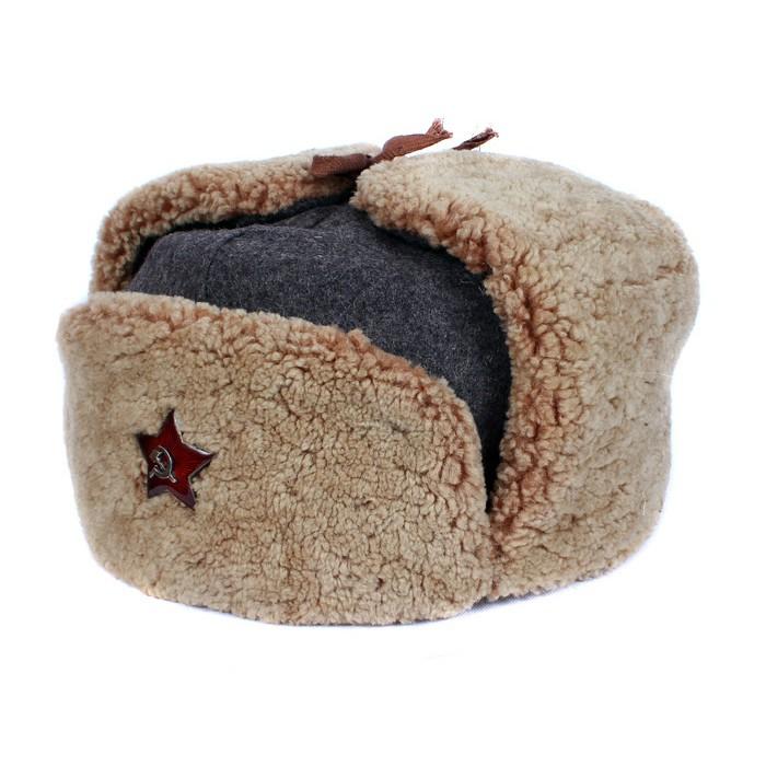 Vintage Soviet BOMBER WWII Ushanka Army Soviet military original warm winter trapper hat