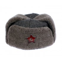 GENUINE Vintage WWII Soviet ushanka RKKA winter russian warm military hat