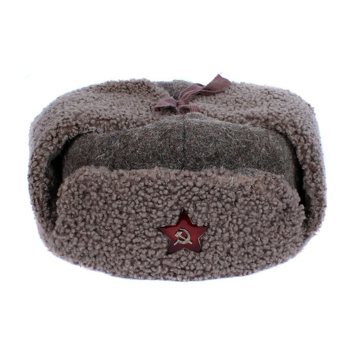 e95be6dccbc USSR Army russian woolen cloth and faux fur warm winter ushanka hat with red  Star pin badge