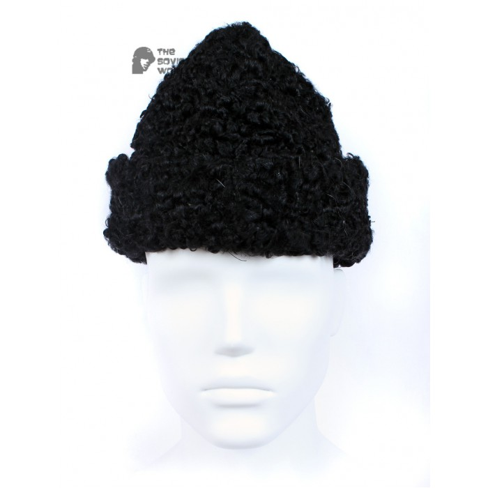 Vintage Soviet Military Astrakhan fur warm winter USSR Army Hat GORBACHEVKA