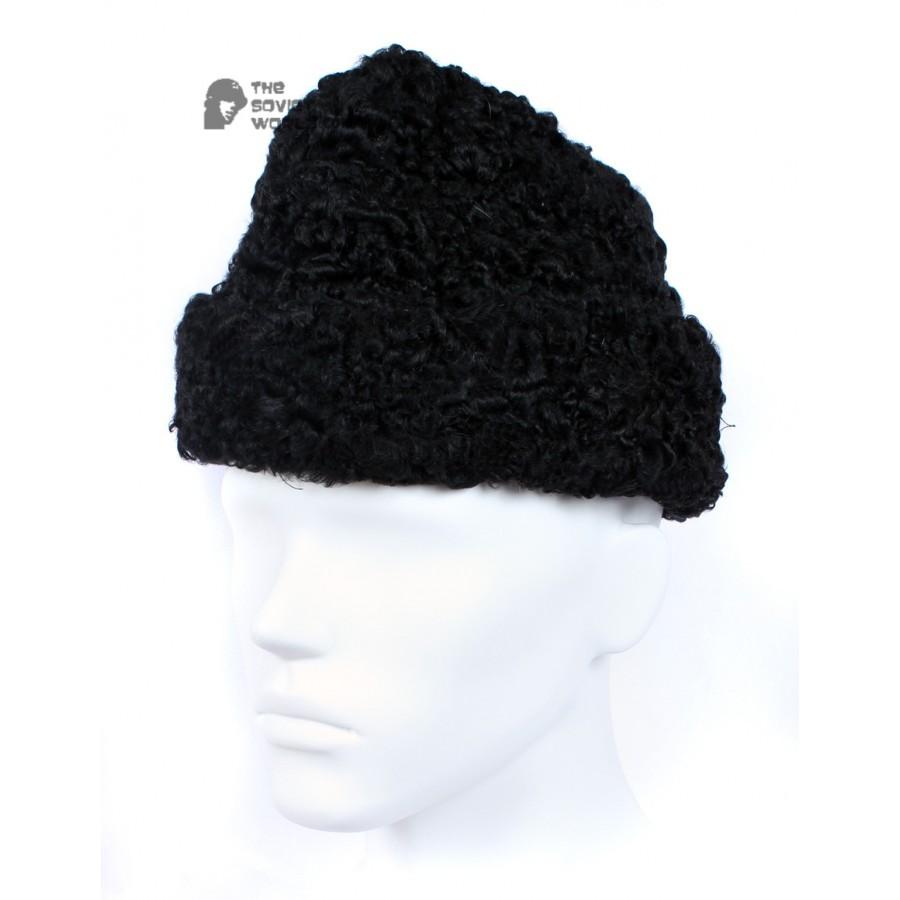 Vintage Soviet Military Astrakhan fur warm winter USSR Hat GORBACHEVKA