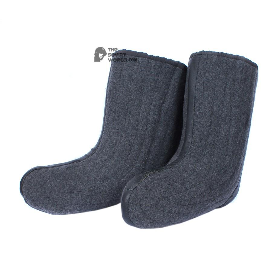 Soviet warm woolen boots with fur VALENKI