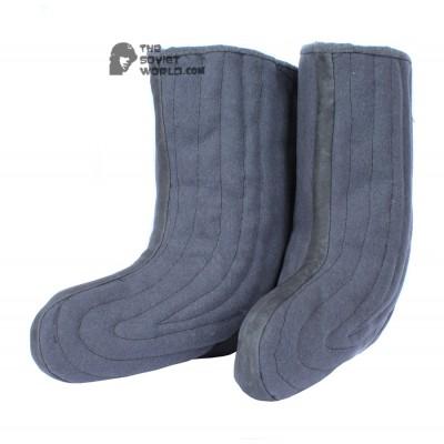 Soviet & Russian warm woolen boots with fur VALENKI