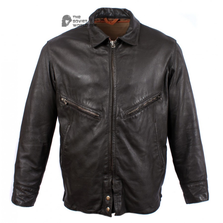 Russian Air Force leather military Pilot Jacket