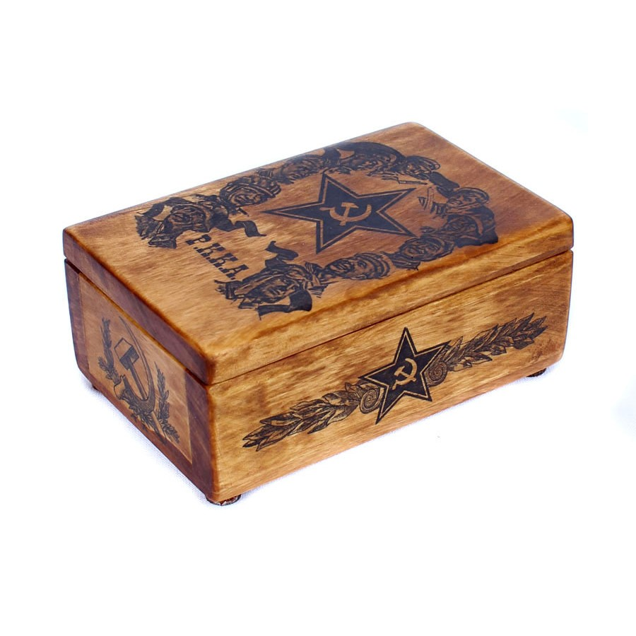 Soviet RKKA army hand made box for tobacco, cigaretes (Soldiers RKKA)