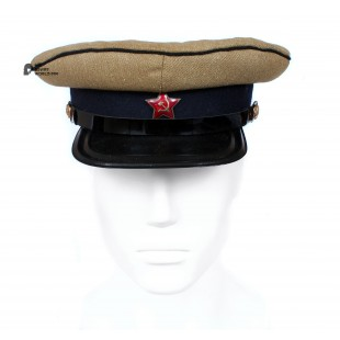 Soviet Army WWII The Highest quality Сavalry Officer's military RKKA visor hat