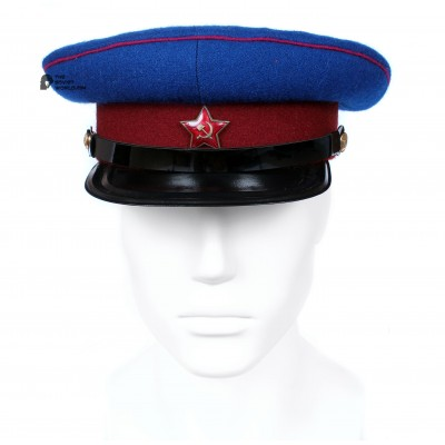 Soviet Army WWII The Highest quality NKVD Officer's military RKKA visor hat