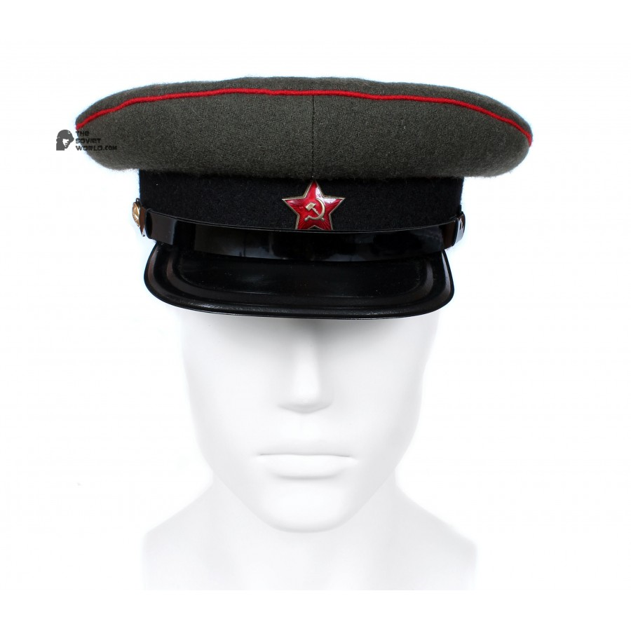 Soviet Army WWII The Highest quality Artilery & Tank Officer's military RKKA visor hat