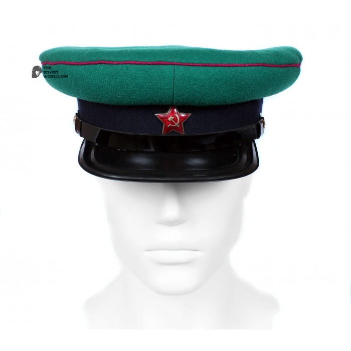 Soviet Army WWII The Highest quality Border Guards Officer's military RKKA visor hat