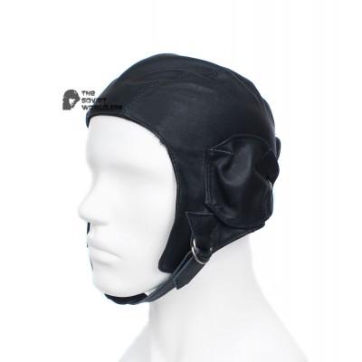 WWII Russian black leather RKKA AIR FORCE Vintage Soviet helmet sample 1935