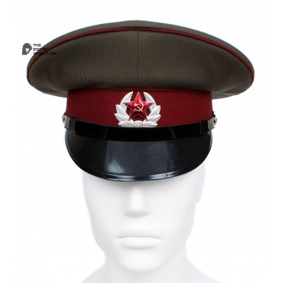 Russian / Soviet USSR Army Internal Troops Sergeants maroon visor cap