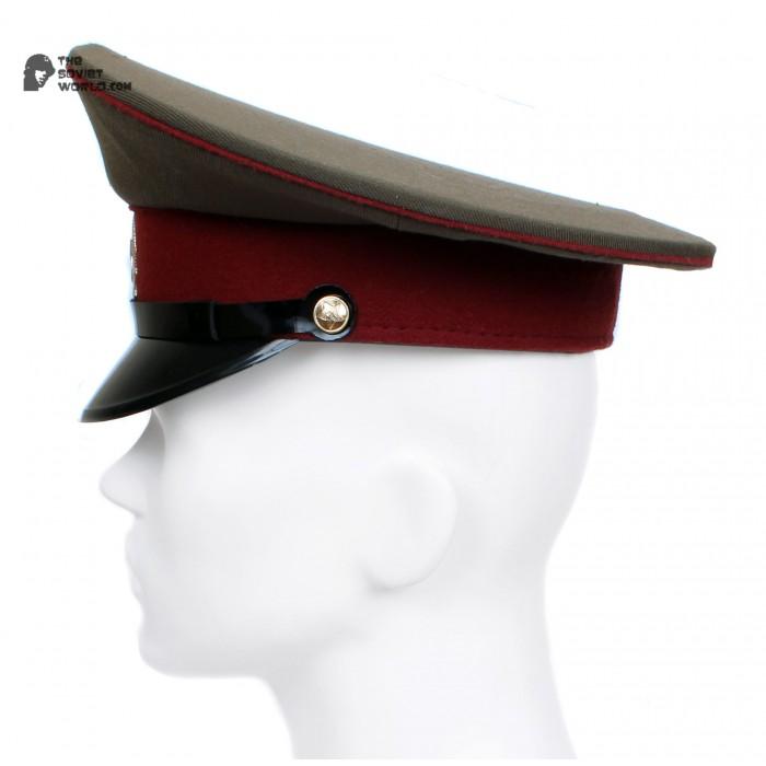 Russian / Soviet USSR Army Internal Troops Sergeants maroon visor cap