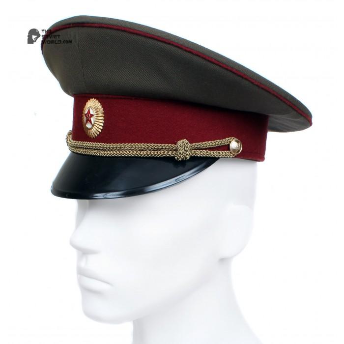 Russian / Soviet USSR Army Internal Troops Officer maroon visor cap