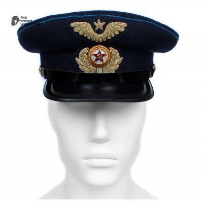 Soviet Army WWII The Highest quality Aviation Officer's military RKKA visor hat