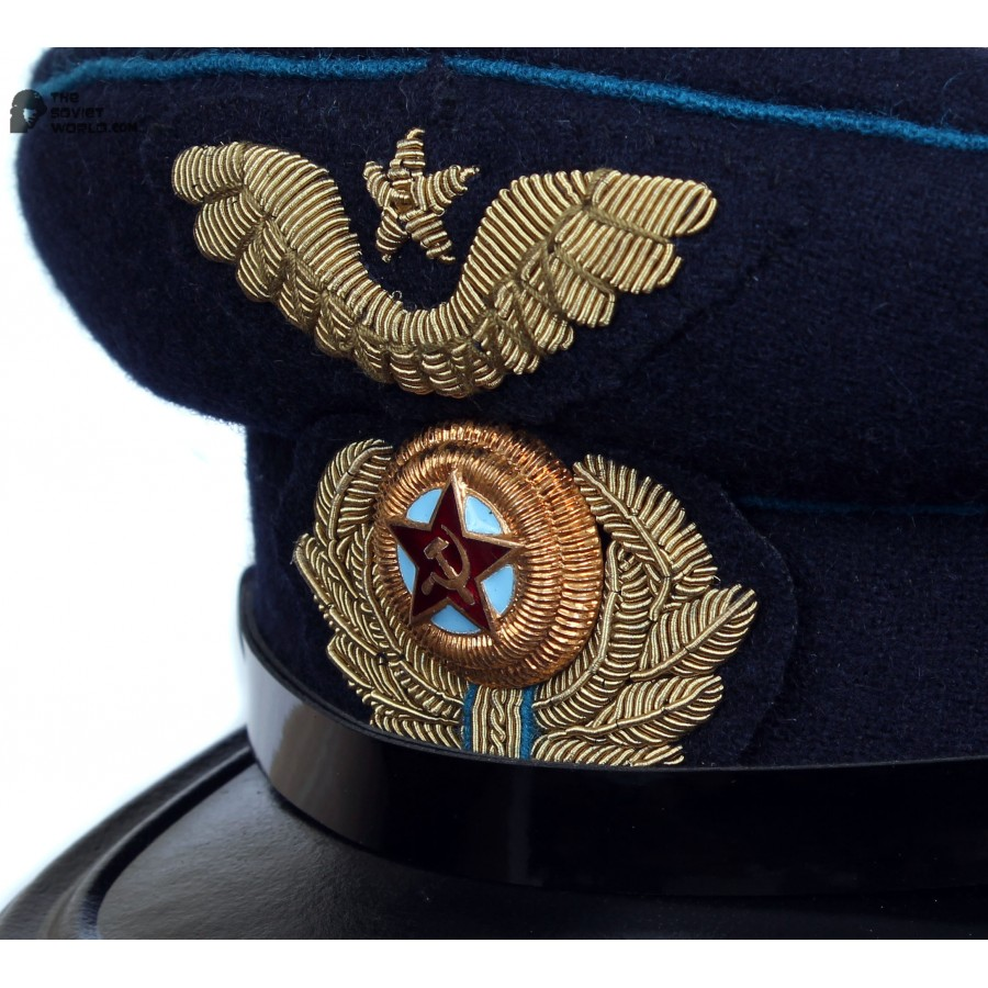 Soviet Army WWII The Highest quality Aviation Officer's military RKKA visor hat