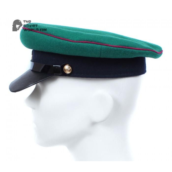 USSR russian NKVD Border Troops Green Officer's visor hat