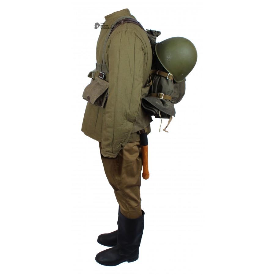1969 Original Winter Soviet Military Infantry Soldier's Uniform, Vintage USSR Army Suite