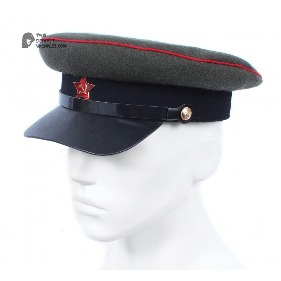Soviet russian RKKA Artillery & Tank Officer's Visor Cap Red Army USSR hat WWII