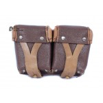 Sovier Original Military Bag for Mosin Rifle Ammo, Vintage Russian soldier's cartridges double pouch bag