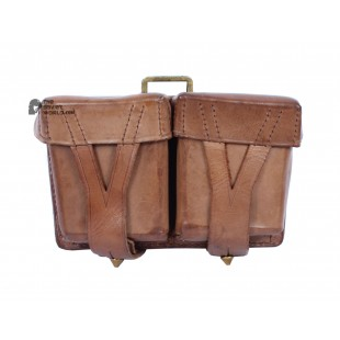 1950s Sovier Original Military Bag for Mosin Rifle Ammo, Vintage RKKA soldier's cartridges double pouch bag