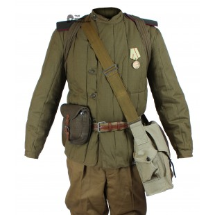 WWII 1943-1945, Soviet Military soldier's Infantry Winter Uniform, USSR Red Army Warm Set M43