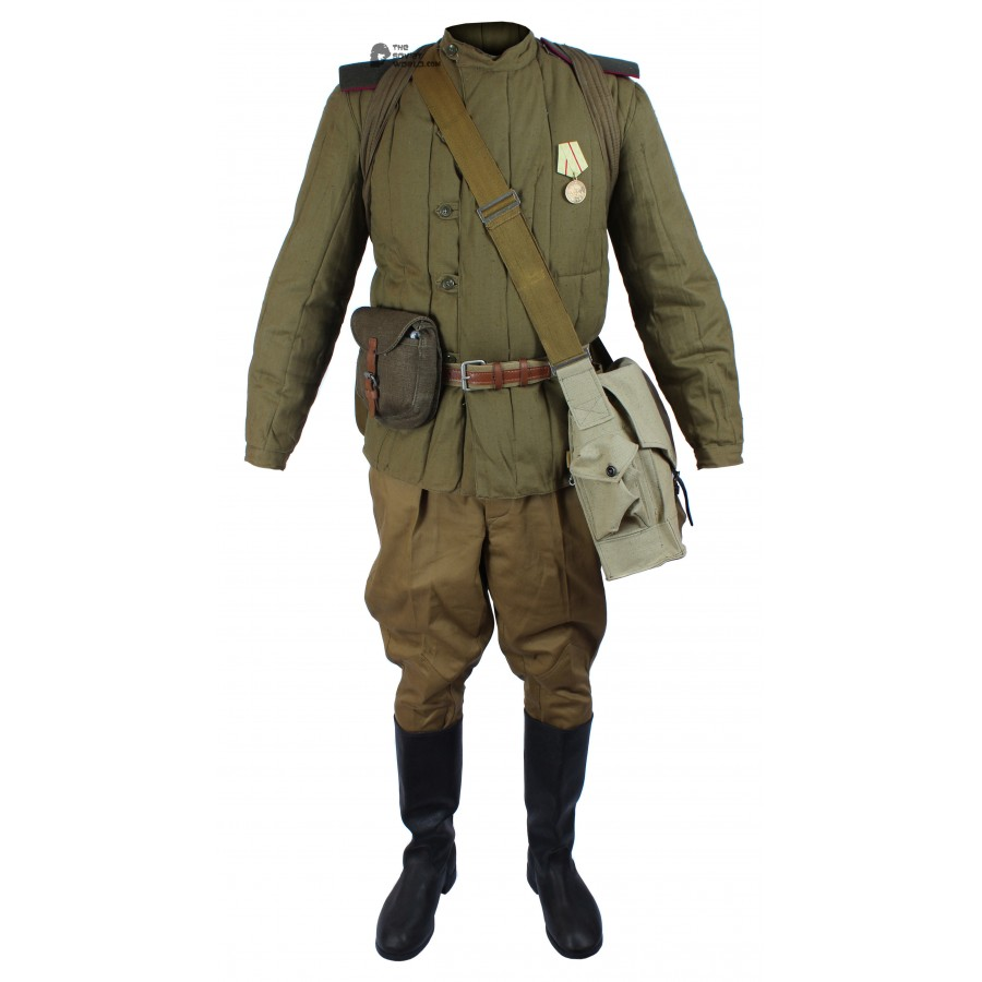 WWII 1943-1945, Soviet Military soldier's Infantry Winter Uniform, USSR Red Army Warm Set M43