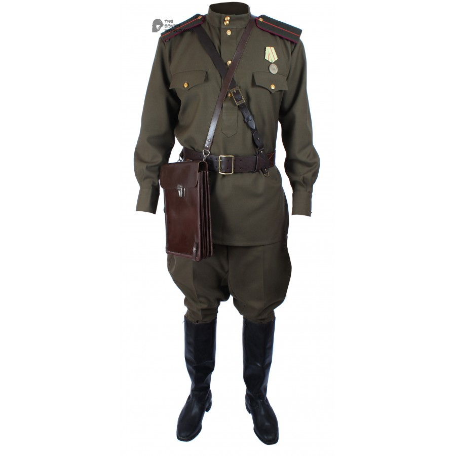 WWII 1943, Soviet Military Officer's Infantry Uniform, USSR Red Army Set M43