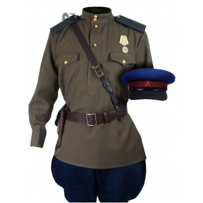 WWII 1943, Soviet Military Officer's NKVD Uniform, USSR Red Army Set M43