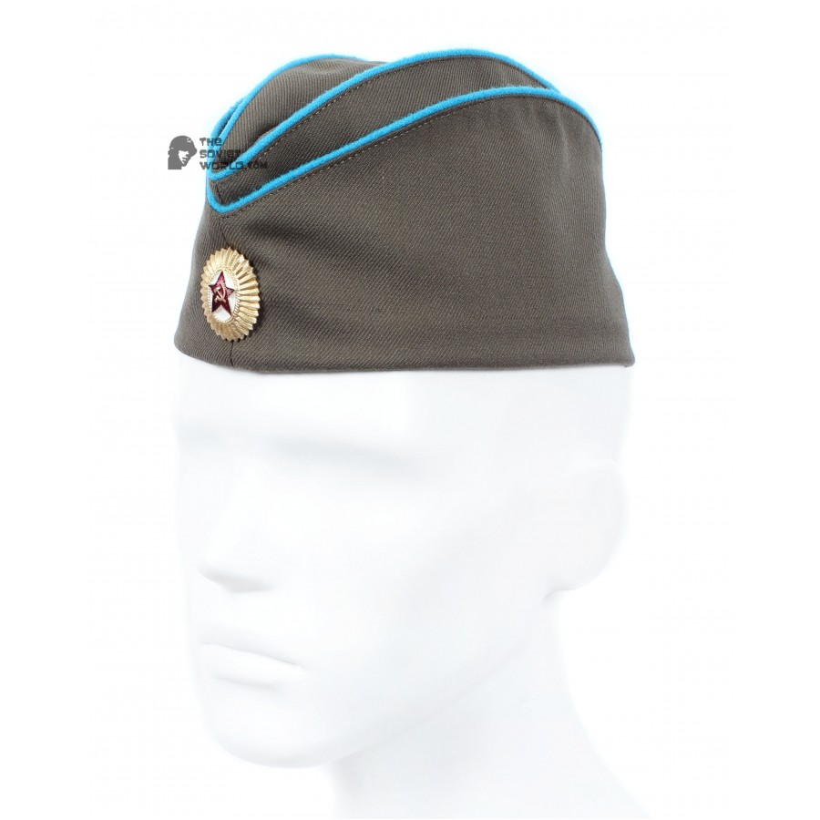 WWII Soviet military Air force Officer's summer hat Pilotka, Russian Aviation combat cap