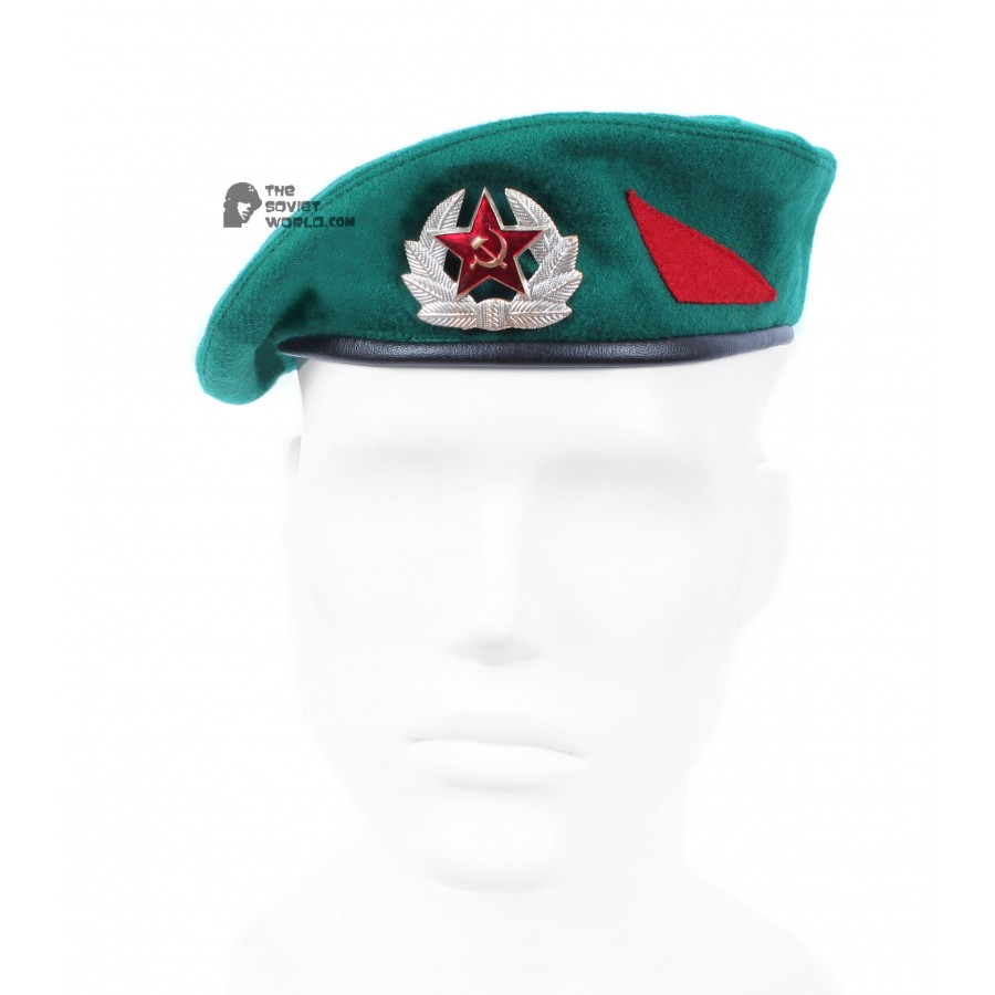 Soviet Army Border guards kit, Russian Military Shirt & hat beret