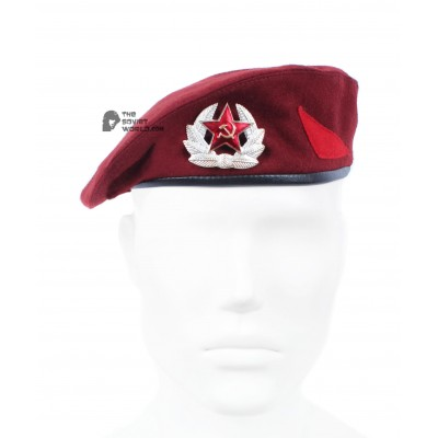 Legendary Soviet maroon beret hat, Russian MVD special forces, summer hat, USSR stuff