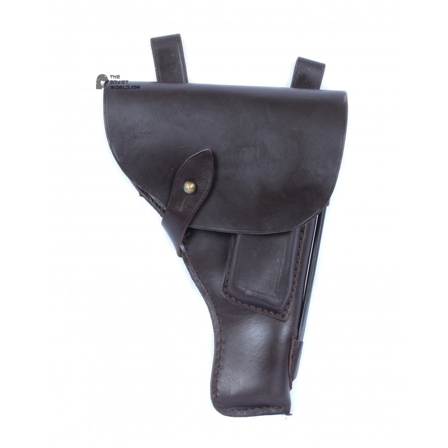 Original Soviet Military Leather Tokarev TT-33 pistol holster, Vintage Russian Army Stuff