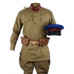 RKKA 1935, Soviet Military Soldier's NKVD Uniform, USSR Red Army Set M35